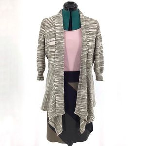Mosca 3/4 Sleeve Open Front Cardigan, XL